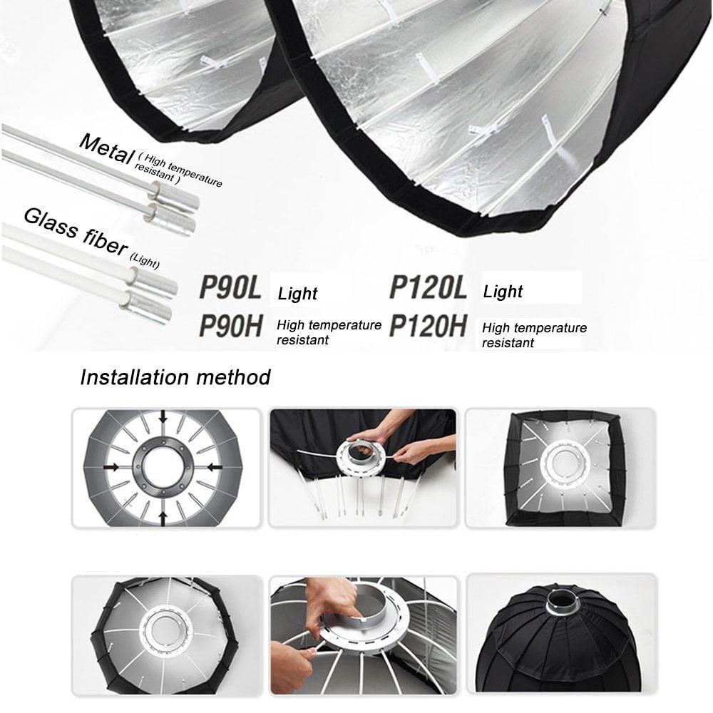 GODOX P120L 48 Deep Parabolic Softbox Bowens Mount Light Version